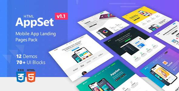 AppSet – App Landing Pages Pack            TFx Merlin Rafferty