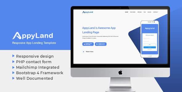 Appyland Responsive App Landing Template            TFx Kohaku Upton