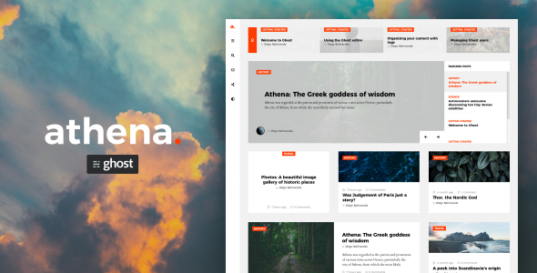 Athena – Modern Ghost Theme with Masonry Layout            TFx Citlalli Grey