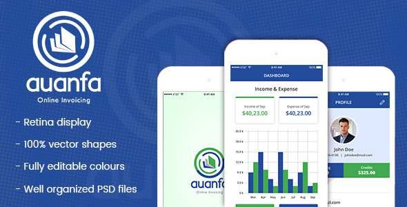 Auanfa - Mobile App PSD            TFx Bedros Cochise
