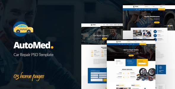 AutoMed – Auto Repair PSD template            TFx Trent Potsʉnakwahipʉ