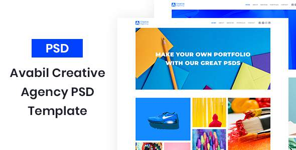 Avabil – Creative Agency PSD Template            TFx Clayton Danny