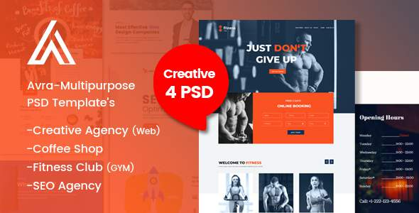 Avra-Multipurpose Business Landing Page & Templates:            TFx Brooks Clark