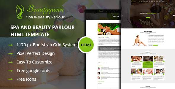 Beautyqueen - Spa & Beautyparlour HTML Template            TFx Connell Peter