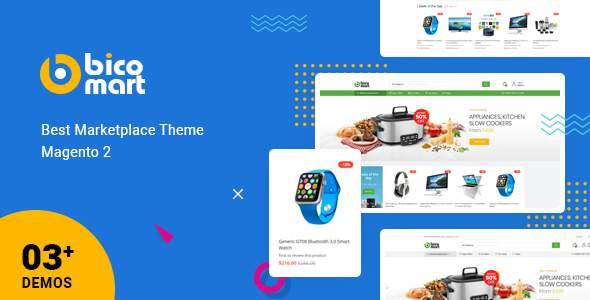 Bicomart – Powerful Magento 2 Theme for Marketplace            TFx Colten Brion