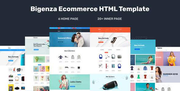Bigenza - Ecommerce Shopping Business Ecommerce Cart HTML Template            TFx Hale Finlay