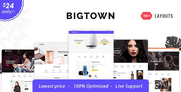 Bigtown - Shopify Multi-Purpose Responsive Theme            TFx Placid Eldred