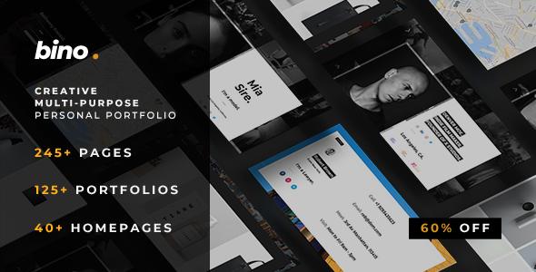Bino — Multi-Purpose Personal Portfolio Template            TFx Austen Wardell