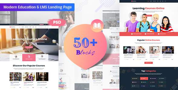 Bookflare – A Modern Education & LMS PSD Template            TFx Ritchie Reynold