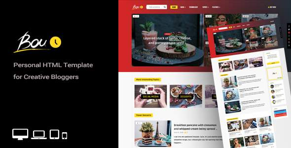 Bouplay - Personal HTML Template for Creative Bloggers            TFx Will Gusti