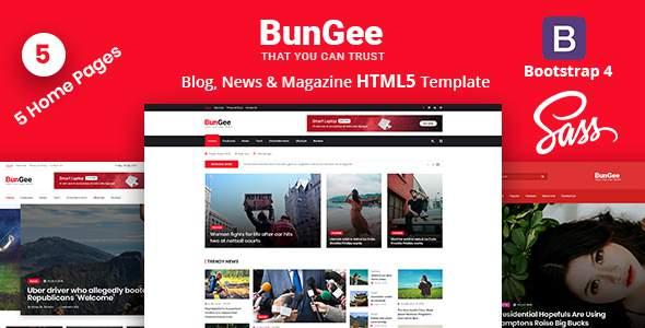 BunGee - Blog, News & Magazine HTML5 Template            TFx Bademus Nanook
