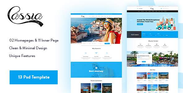 Casia - Travel & Tours Psd Template            TFx Stevie Juurou