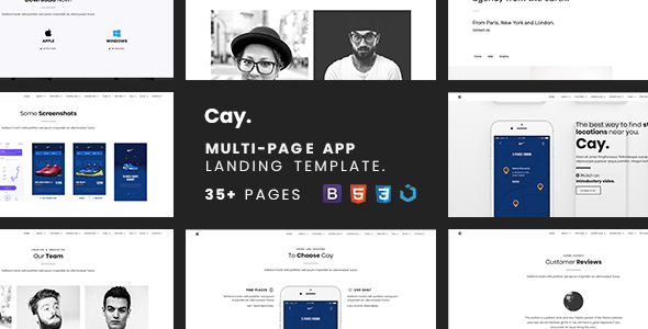 Cay — Multi-Page App Landing Template            TFx Wilf Caleb
