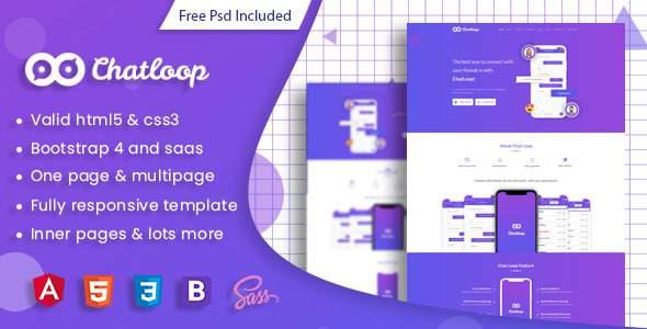 Chatloop - Angular 7 App Landing Page            TFx Qaaboub Lindon