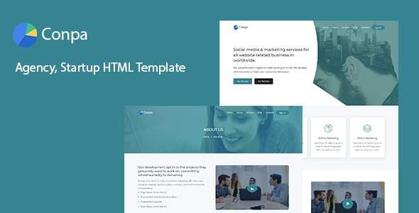 Conpa - Agency, Startup HTML Template            TFx Quidel Jasper