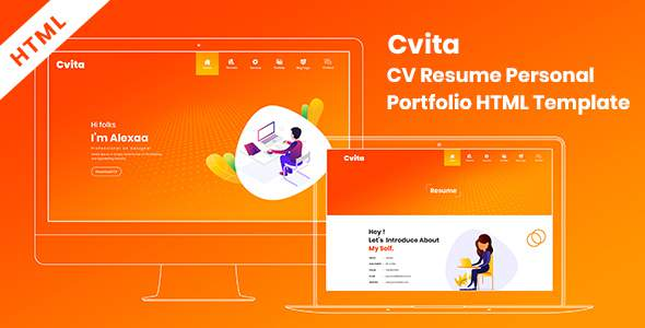 Cvita – CV Resume Personal Portfolio HTML Template            TFx Dallas Denver
