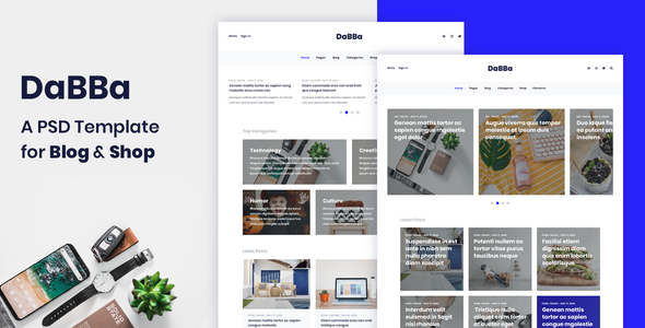 Dabba - A PSD Template For Blog & Shop            TFx Ford Scottie