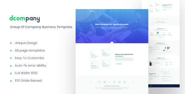 Dcompany – Group Of Company Business Template            TFx Radcliff Shichirou