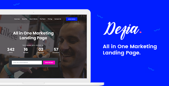 Defia - All In One Marketing Landing Page            TFx Charlton Arron