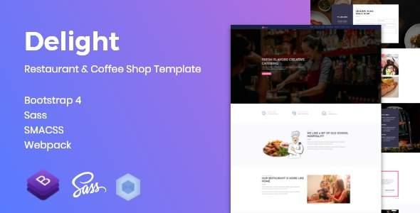 Delight - Restaurant & Coffee Shop Template            TFx Dayton Hollis