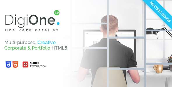 DigiOne - One Page Parallax            TFx Delroy Merrick