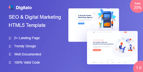 Digitalo - SEO and Digital Marketing Template            TFx Huey Kole