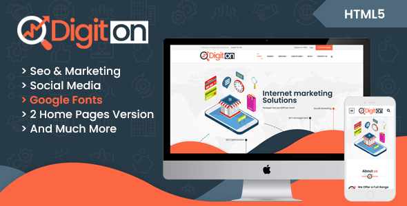 Digiton - SEO and Digital Agency HTML Template            TFx Sheridan Moacir
