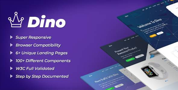 Dino – Landing Pages HTML Template            TFx Riku Pearce