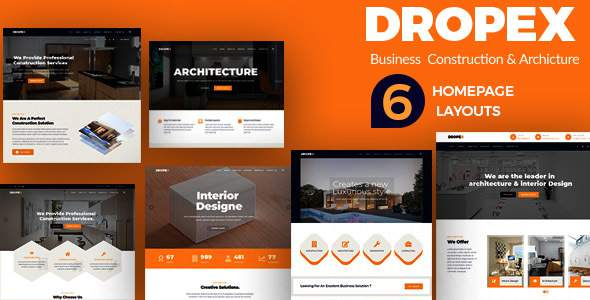 Dropex - Business Construction & Architecture Template            TFx Gayelord Kevork