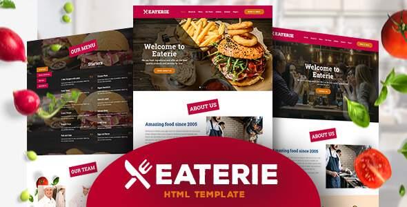 Eaterie – Restaurant/Cafe HTML5 Template            TFx Alvin Rob