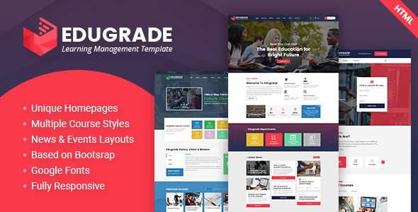 Edugrade - Education HTML Template            TFx Ritchie Thornton