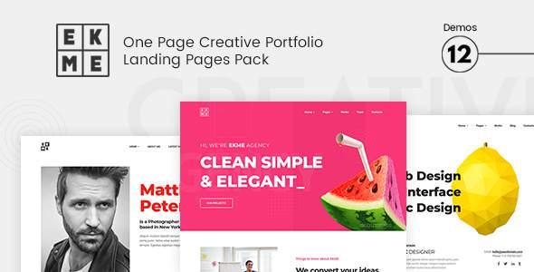Ekme - One Page WordPress Landing Pages Theme            TFx Drogo Odin