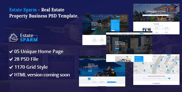 Estate Sparm - Real Estate PSD Template.            TFx Wilburn Lorn
