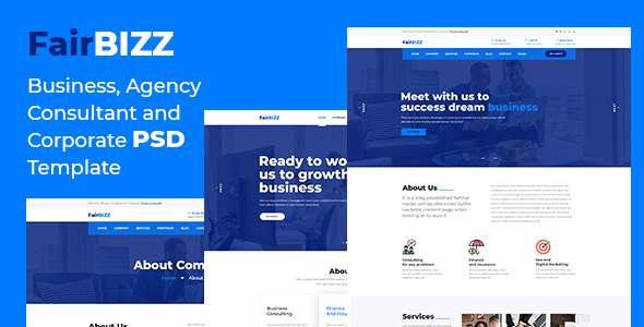 FairBizz - Business, Agency, Consultant and Corporate PSD Template            TFx Ritchie Yancy