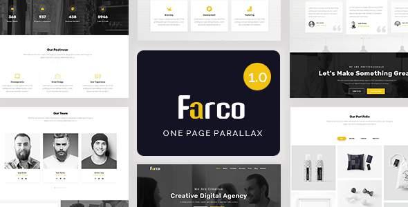 Farco – One Page Parallax            TFx Karl Jake