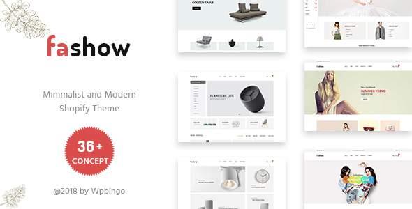 Fashow – Minimal and Modern Shopify Theme            TFx Jayce Bradley