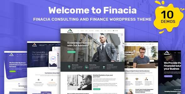 Finacia - Finance & Financial Consulting WordPress Theme            TFx Abe Irwin