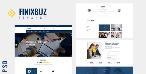 Finixbuz - Corporate & Financial PSD Template            TFx Valerian Pace