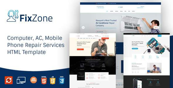 FixZone – Computer, Electronics and Phone Repair HTML Template            TFx Jeffry Leroi