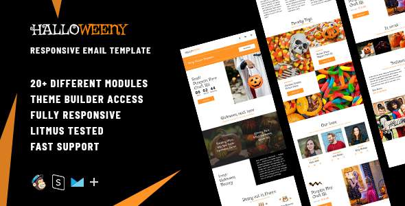 Halloweeny – Responsive Halloween Email + StampReady Builder            TFx Daniel Ernest