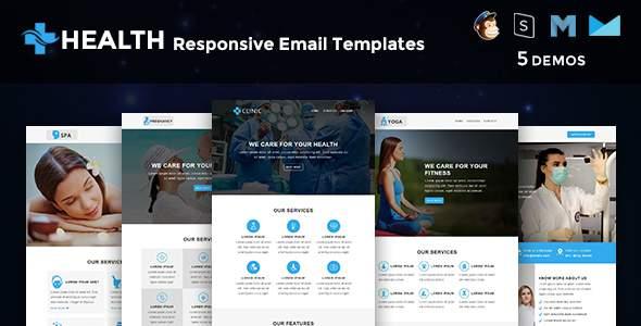 Health – Multipurpose Responsive Email Templates            TFx Cayden Dezi