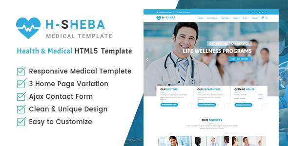 Health Sheba Hospital – Health and Medical HTML Template            TFx Sulaiman Kusuma