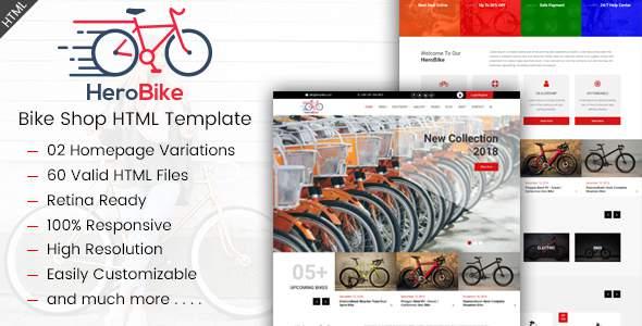 HeroBike - Responsive Bike Shop Template            TFx Kenji Huey