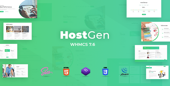 HostGen - Multipurpose Hosting Provider HTML5 Template With WHMCS            TFx Harold Sinclair