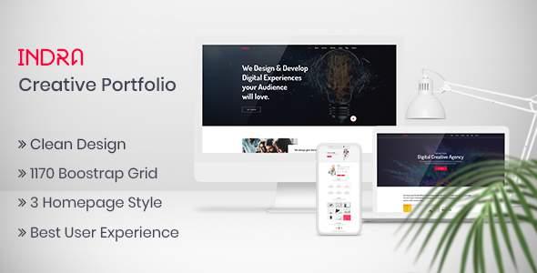 Indra | Creative Portfolio PSD Template            TFx Nigellus Digby