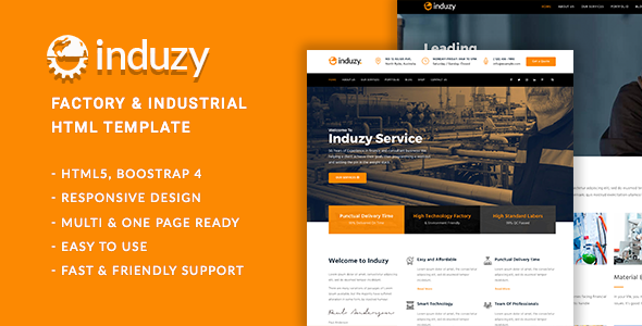 Induzy - Factory & Industrial HTML5 Template            TFx Ralphie Raja