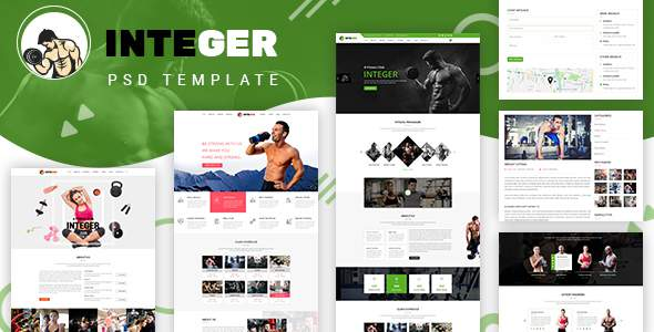 Integer - Gym Fitness PSD Template            TFx Raja Lake