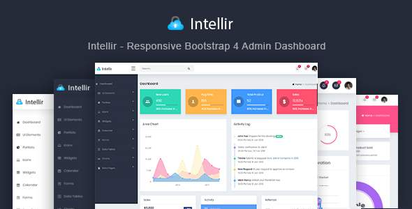 Intellir - Responsive Bootstrap 4 Admin Dashboard            TFx Eka Garen