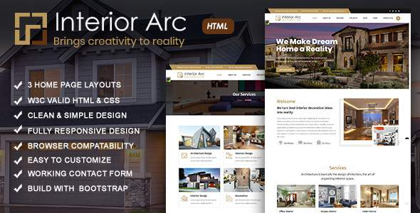 Interiorarc - Architecture & Interior Design HTML Template            TFx Wayland Neely