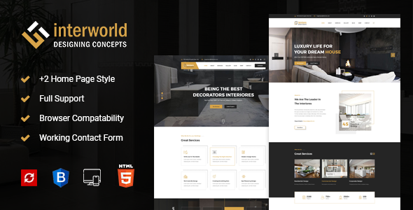 Interworld - HTML Template for Architecture, Construction, and Interior Design            TFx Bert Placid